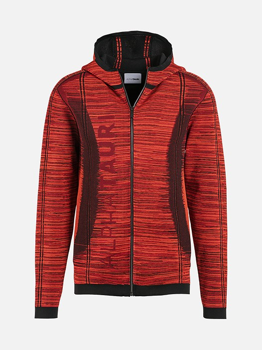 FAAV V1.Y2.02 Technical Knit Zip-Hoodie red / other Back Alpha Tauri