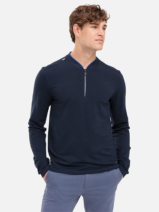 JIHO V3.Y2.02 Taurex® Long-Sleeved T-Shirt with Zipper navy Model shot Alpha Tauri