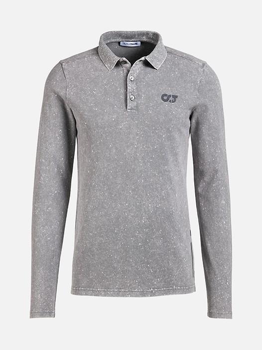 JAAK V1.Y2.02 Long-Sleeved Polo Shirt grey Back Alpha Tauri