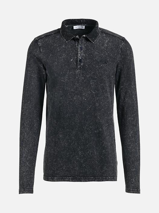JAAK V1.Y2.02 Langarm-Poloshirt black Hinten Alpha Tauri