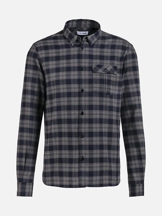 WINZ V1.Y2.02 Flannel Shirt with Chest Pocket grey Back Alpha Tauri