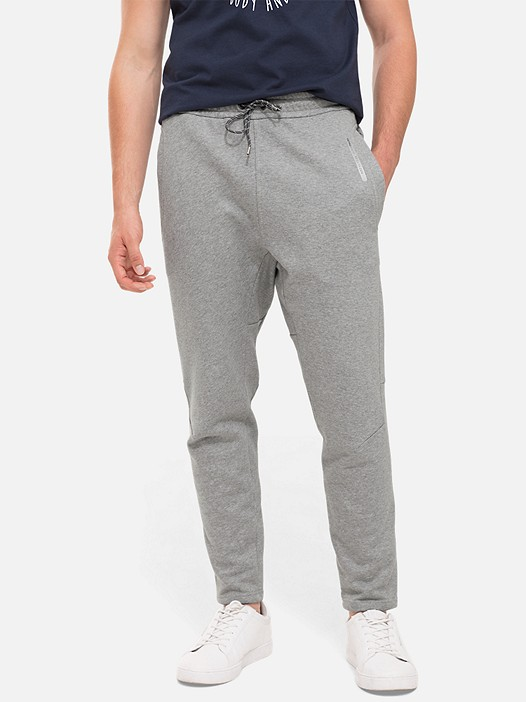 PITZ V2.Y2.02 Sweatpants with Drawstring grey / melange Model shot Alpha Tauri