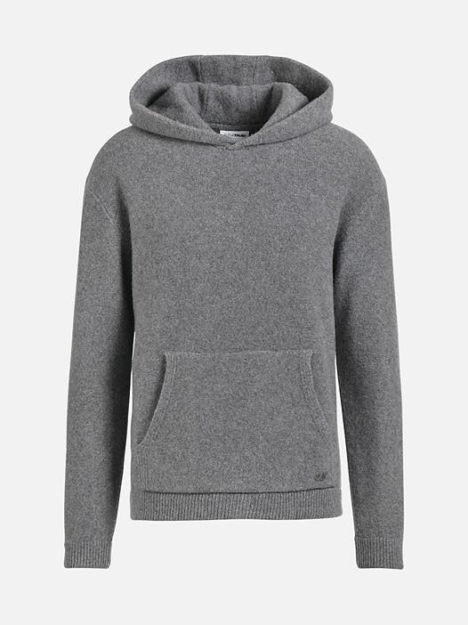 FIET V1.Y2.02 Cashmere Hoodie with Pocket grey / melange Back Alpha Tauri