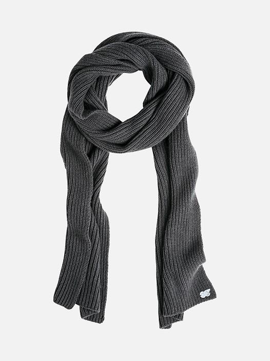 AXMI V1.Y2.02 Warm Knitted Scarf dark grey / anthracite Back Alpha Tauri