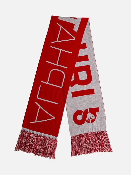 ASCA V1.Y2.02 AlphaTauri Logo Scarf red / grey Back Alpha Tauri