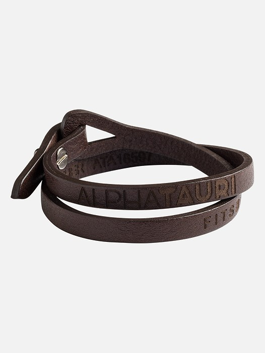 AMBA V1.Y2.02 Narrow Leather Bracelet brown Model shot Alpha Tauri