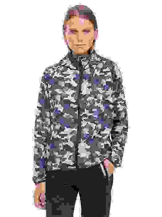 OCHA V3.Y2.02 Camouflage 'Packable' Jacket blue / other Model shot Alpha Tauri