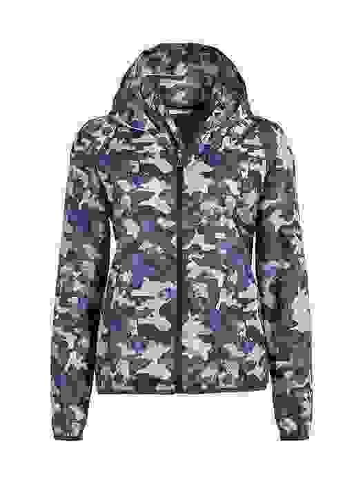 OCHA V3.Y2.02 Camouflage 'Packable' Jacket blue / other Back Alpha Tauri