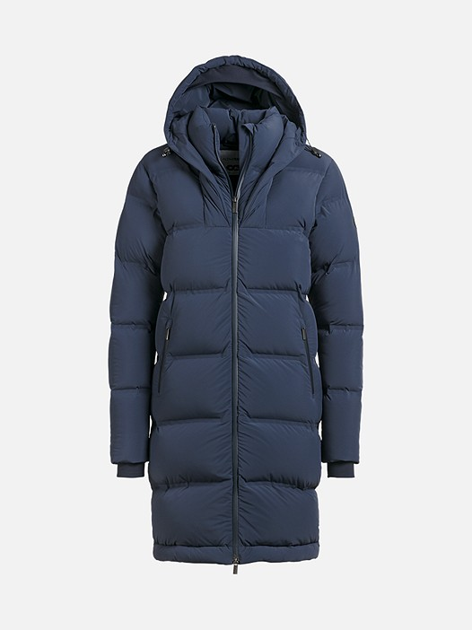 OVES V1.Y2.02 Long Primaloft® Coat navy Back Alpha Tauri