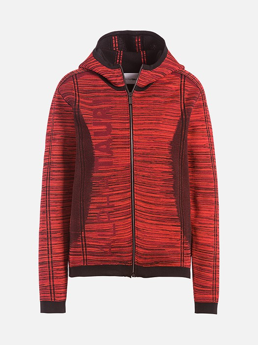 FUUV V1.Y2.02 Technical Knit Zip-Hoodie red / other Back Alpha Tauri