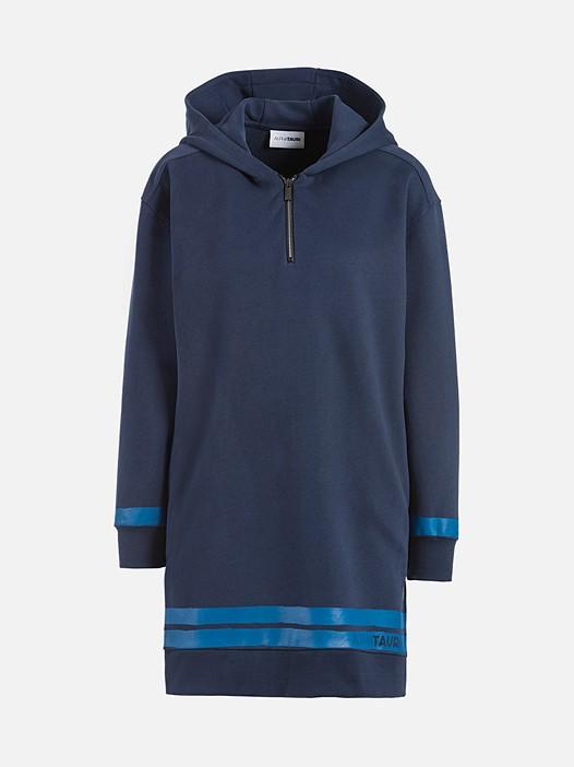 SABE V1.Y2.02 Taurex® Sweatshirt Dress with Hood navy Back Alpha Tauri