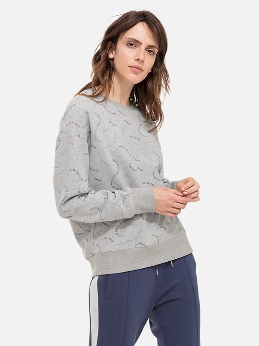 SELA V1.Y2.02 All-Over Print Taurex® Sweatshirt grey / melange Model shot Alpha Tauri