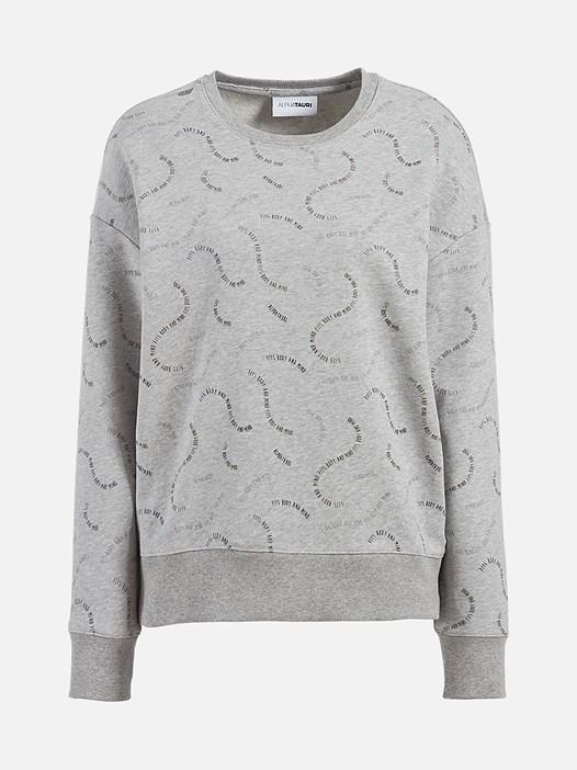 SELA V1.Y2.02 All-Over Print Taurex® Sweatshirt grey / melange Back Alpha Tauri