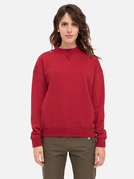 SING V1.Y2.02 Sweatshirt with Back Print red Model shot Alpha Tauri