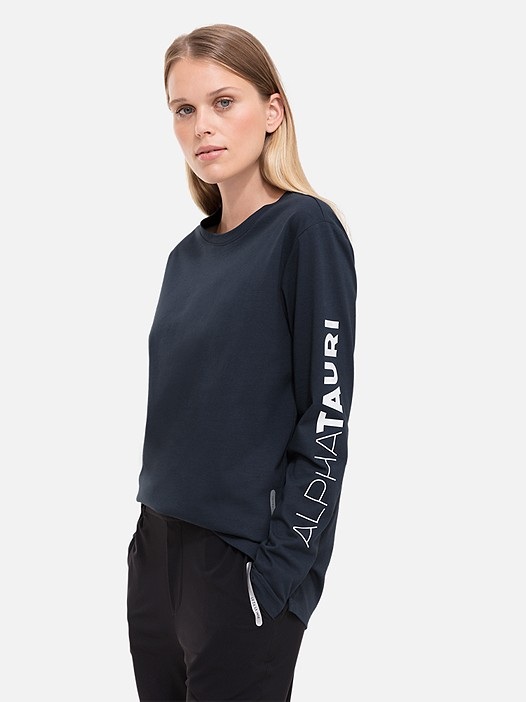 JISI V1.Y2.02 Taurex® Long-Sleeved T-Shirt with Sleeve Print navy Model shot Alpha Tauri
