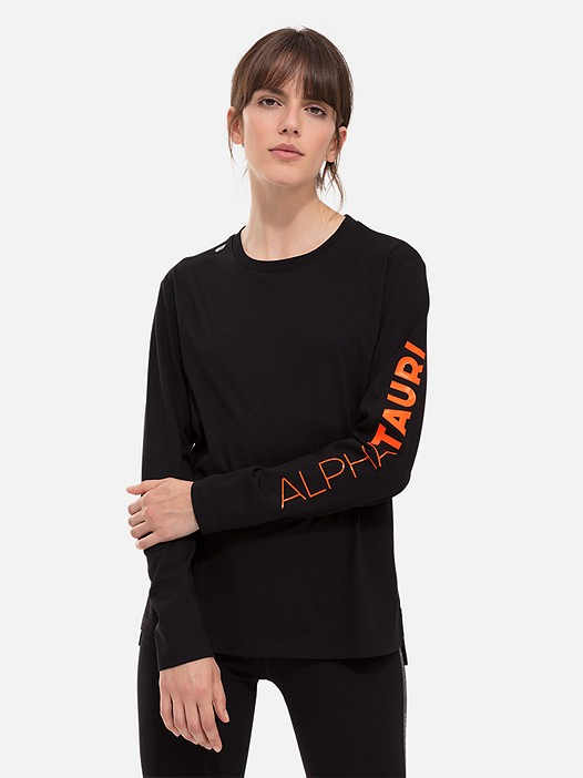 JISI V1.Y2.02 Taurex® Long-Sleeved T-Shirt with Sleeve Print black Model shot Alpha Tauri