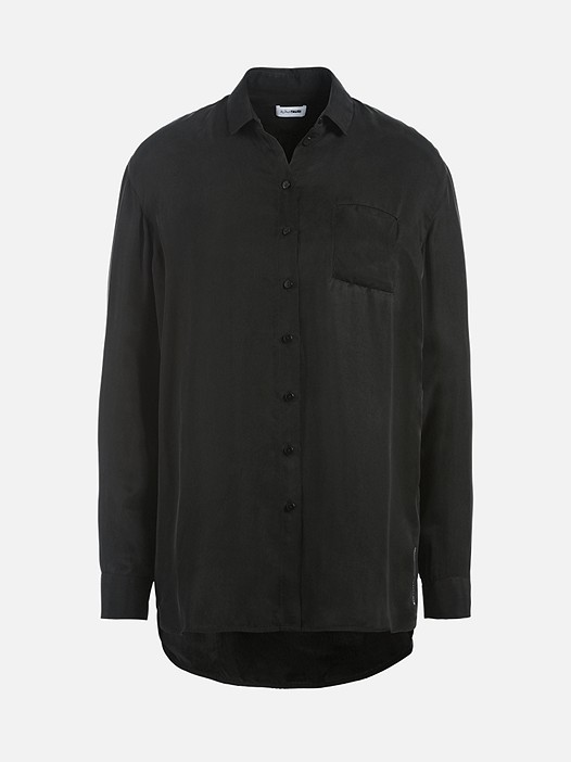 WYIN V2.Y2.02 Leichte Oversize Bluse black Hinten Alpha Tauri