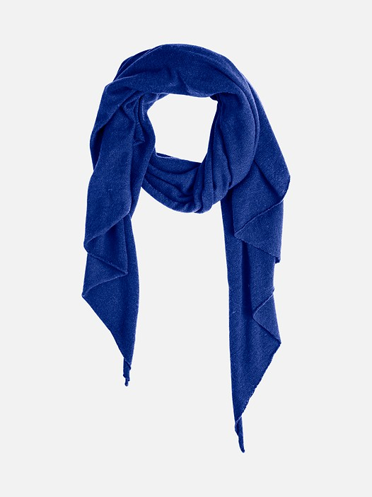 ALOO V1.Y2.02 Triangular Scarf with Cashmere blue Back Alpha Tauri