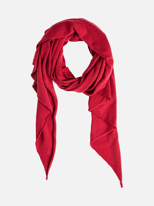 ALOO V1.Y2.02 Triangular Scarf with Cashmere red Back Alpha Tauri