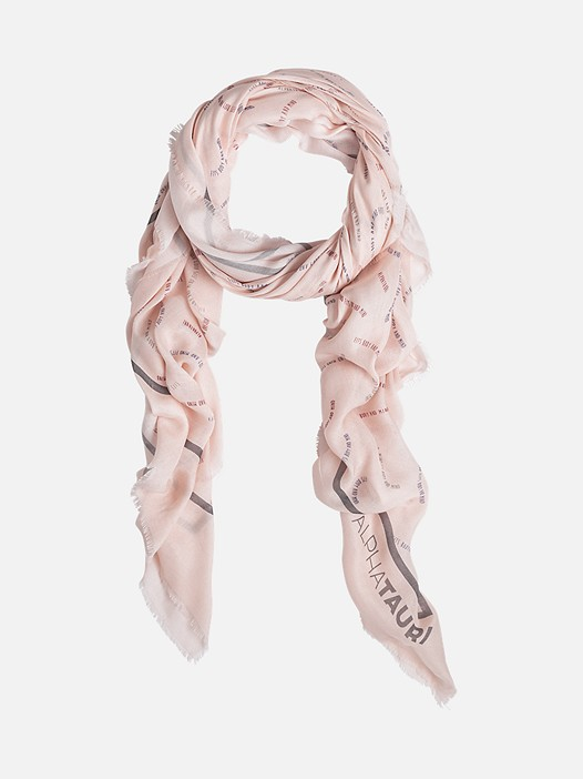 ANZA V1.Y2.02 Lightweight Scarf with Print rose Back Alpha Tauri