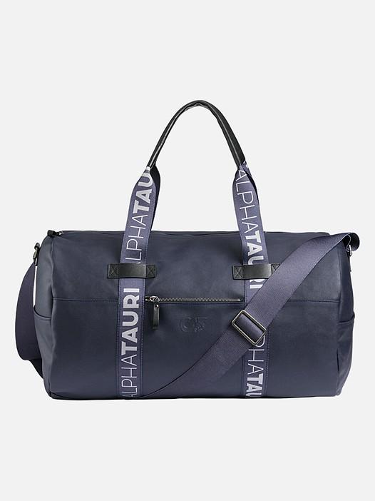 AWEE V1.Y2.02 Waxed Canvas Weekender Bag navy Back Alpha Tauri