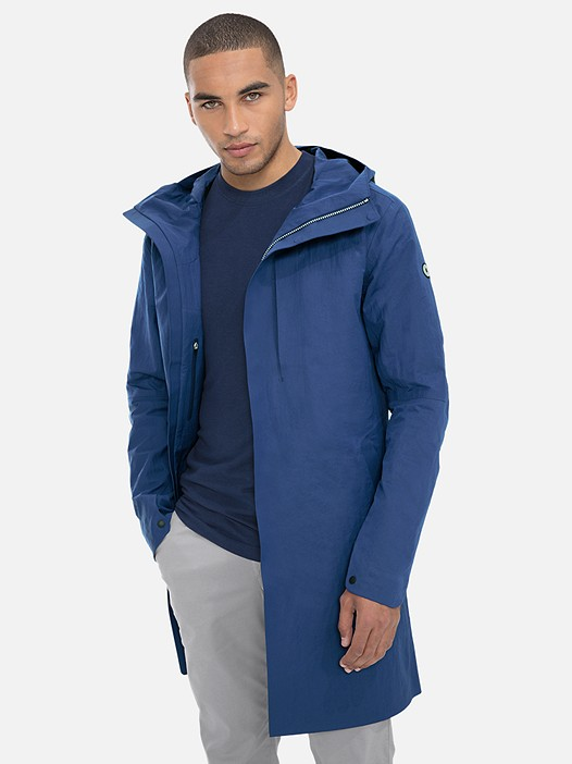 KOOV V2.Y3.01 Technical Packable Parka blue Model shot Alpha Tauri