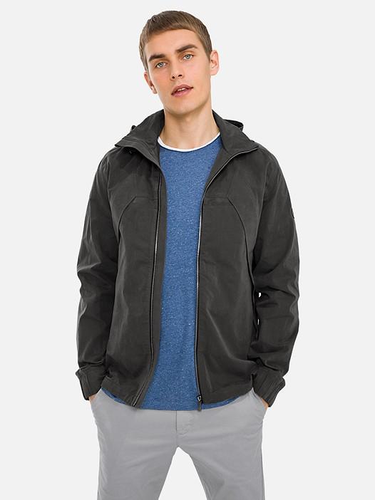 OHEV V1.Y3.01 Versatile Jacket with Hood dark grey Model shot Alpha Tauri