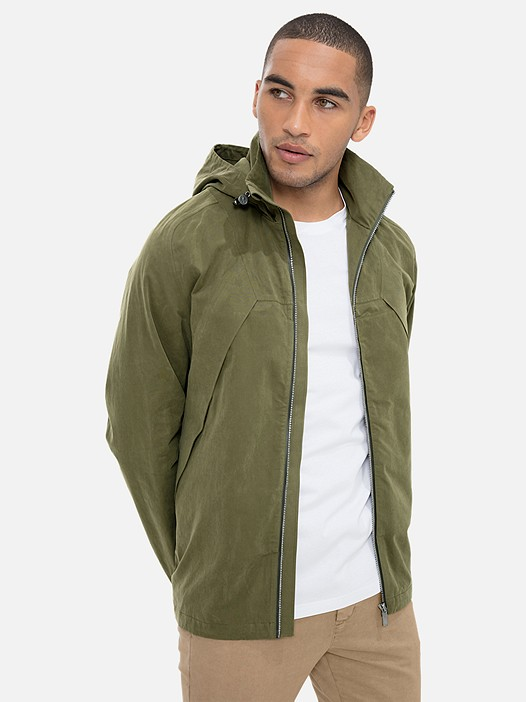 OHEV V1.Y3.01 Versatile Jacket with Hood khaki Model shot Alpha Tauri