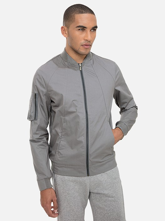 OBOMB V1.Y3.02 Classic Cotton Bomber Jacket light grey Model shot Alpha Tauri