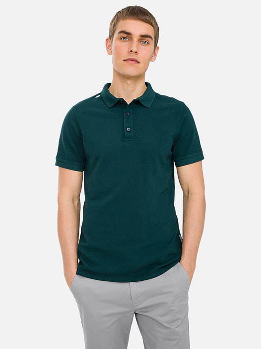 JANX V2.Y3.01 Classic Cotton-Piqué Polo Shirt green Model shot Alpha Tauri