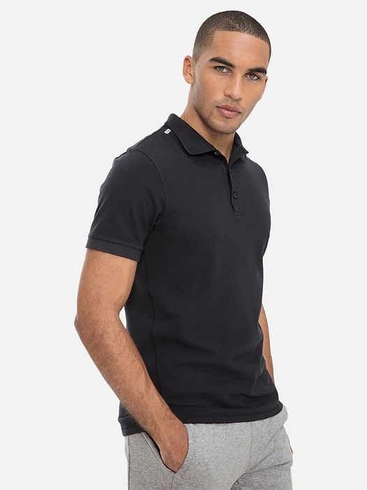 JANX V2.Y3.01 Classic Cotton-Piqué Polo Shirt black Model shot Alpha Tauri
