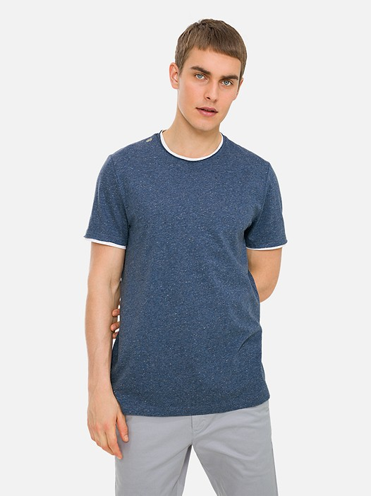 JOUBL V1.Y3.01 Mottled T-Shirt with Taurex® Technology blue Model shot Alpha Tauri