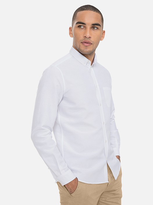 WIDT V6.Y3.01 Classic Oxford Shirt with Chest Pocket white Model shot Alpha Tauri