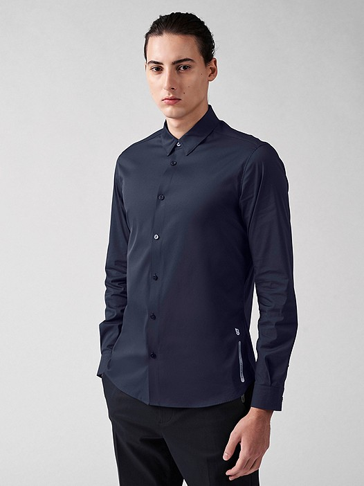 WADE V2.Y3.01 Technical Regular Fit Shirt with Stretch navy Model shot Alpha Tauri