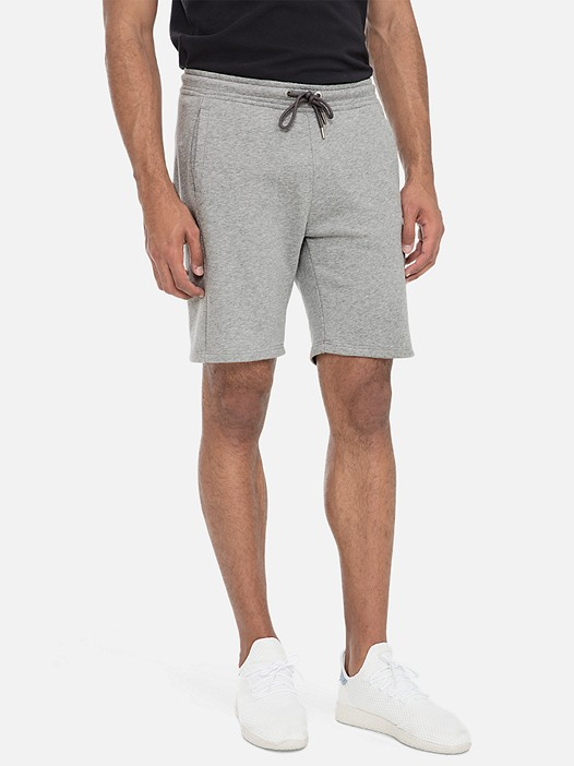 PUGH V3.Y3.01 Sweatshorts with Elastic Waist grey / melange Model shot Alpha Tauri