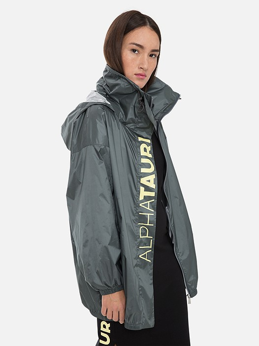 OCHAK V1.Y3.01 Packable Oversized Jacket with Taurex® Technology grey Model shot Alpha Tauri