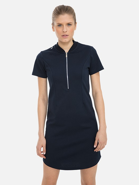 SRESS V1.Y3.01 Technical Half-Zip Dress navy Model shot Alpha Tauri