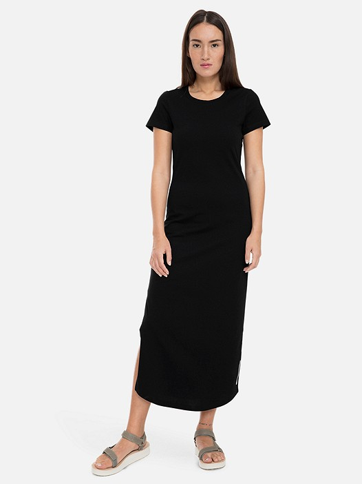 JIONG V1.Y3.01 Long Jersey Dress with Taurex® Technology black Model shot Alpha Tauri