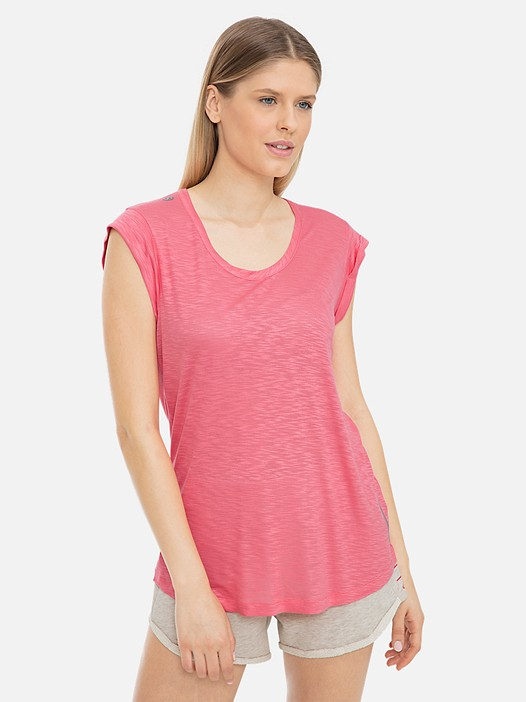JIESH V1.Y3.01 T-Shirt with Short Cut Sleeves and Taurex® Technology coral Model shot Alpha Tauri