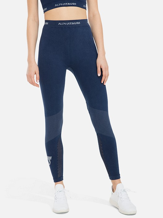 PORIV V1.Y3.01 Knitted Performance Leggings blue Model shot Alpha Tauri