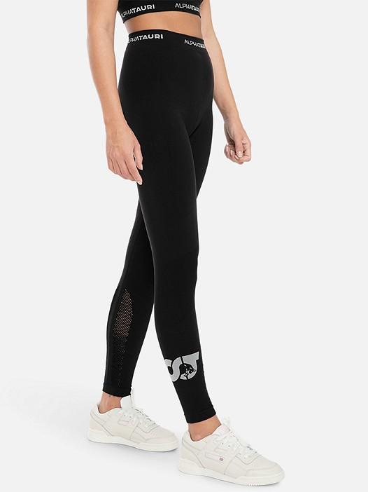 PORIV V1.Y3.01 Knitted Performance Leggings black Model shot Alpha Tauri