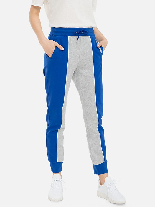 POGGA V1.Y3.01 Colour-Block Sweatpants with Taurex® Technology blue / grey Model shot Alpha Tauri