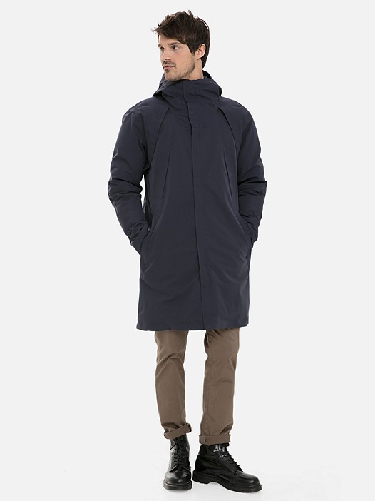 KOOV V3.Y3.02 Technical Packable Parka with PrimaLoft® and Taurex® navy Model shot Alpha Tauri