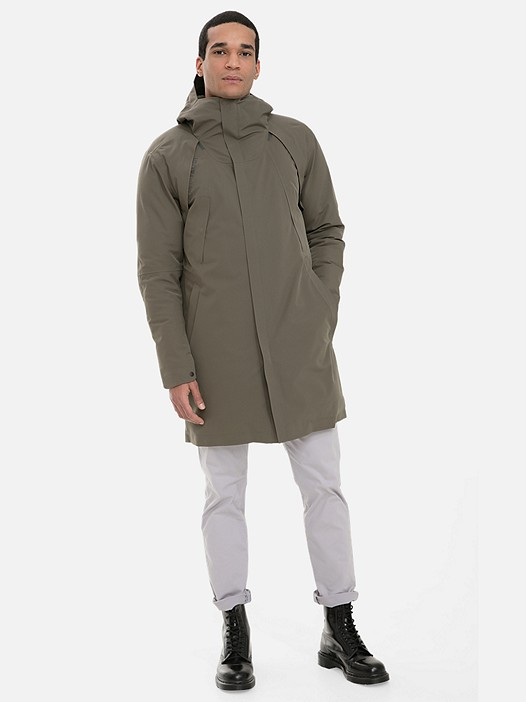 KOOV V3.Y3.02 Technical Packable Parka with PrimaLoft® and Taurex® olive Model shot Alpha Tauri