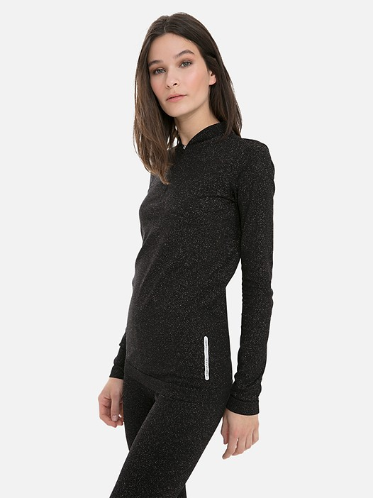 JURSA V1.Y3.02 Lurex Long-Sleeved Top with Taurex® black Model shot Alpha Tauri