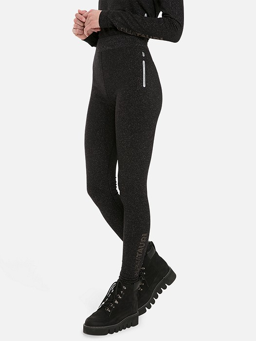 PORIV V1.Y3.01 Lurex Leggings with Taurex® black Model shot Alpha Tauri